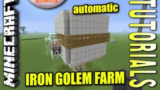 Minecraft PS4 - AUTOMATIC IRON GOLEM FARM - Tutorial ( PE / PS3 / XBOX / WII U )