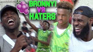 LeBron & Dwyane Wade WATCH Bronny Jr vs SH*T TALKING TEAM! PACKED CROWD IN VEGAS!