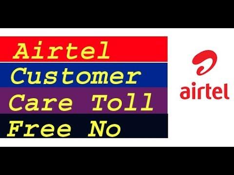 Airtel customer care toll free number  airtel customer care