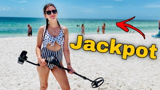 My Girlfriend Hit The Biggest Metal Detecting Jackpot & You Won't Believe What She Found!