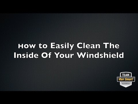 Cleaning The Inside Of Your Trucks Windshield