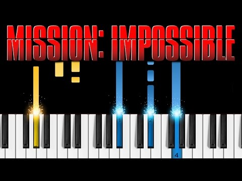 Mission Impossible Theme - EASY Piano Tutorial
