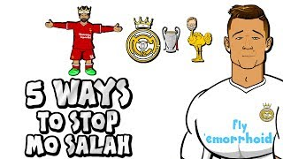 🚫5 WAYS TO STOP SALAH!🚫 By Ronaldo (Parody Champions League Final Real Madrid vs Liverpool)
