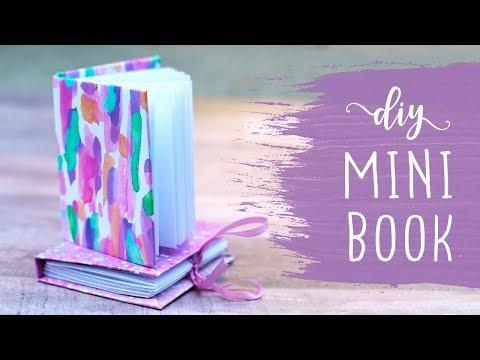 Mini Book Making Tutorial 📚 DIY Mini Hardback Book with Binding!