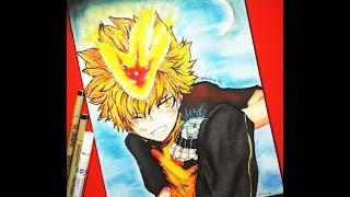 Watercolor Speed Drawing - Tsuna Sawada form Katekyo Hitman Reborn