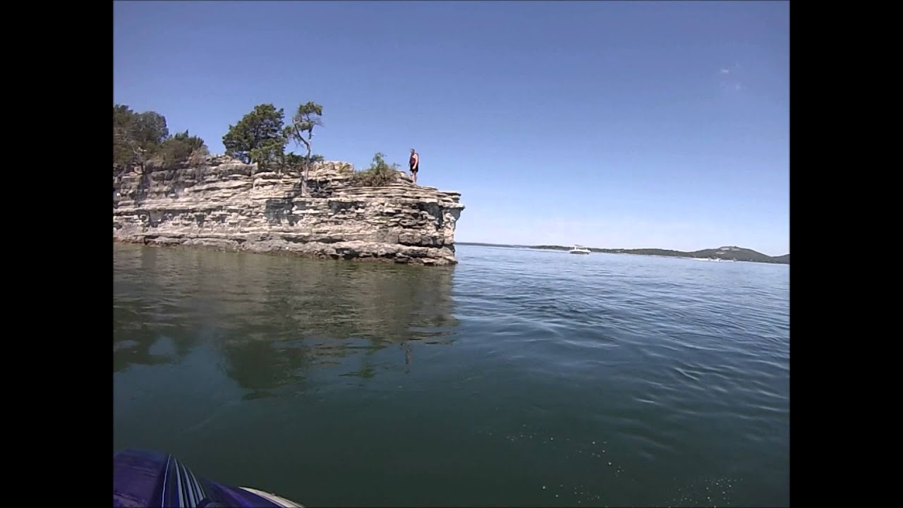 Cliff jumping at table rock lake youtube for Table rock lake