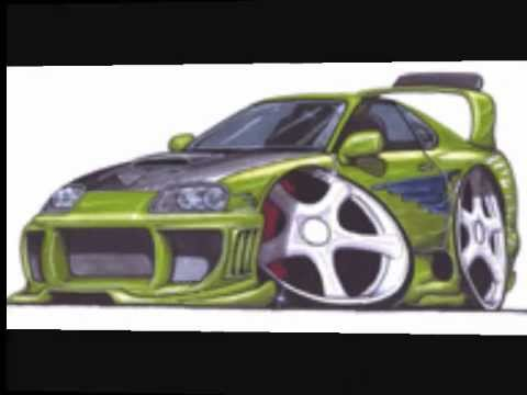 fast and furious car drawing - YouTube
