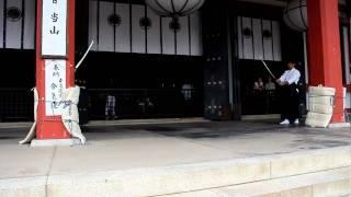 鞍馬寺で行われた義経祭における合気道奉納.