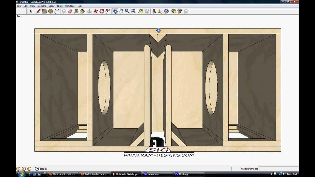 Ram designs rockford fosgate 10 t1 bandpass box design for L ported sub box design