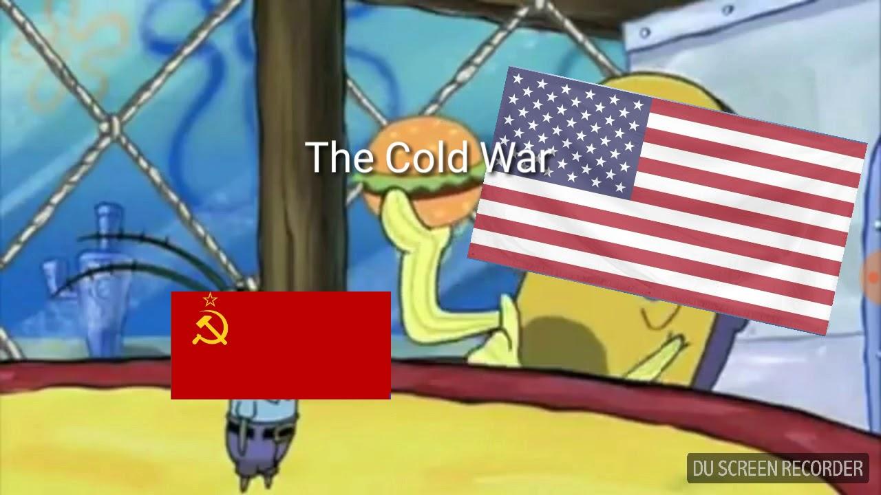 Spongebob ww2 meme the cold war in a nutshell