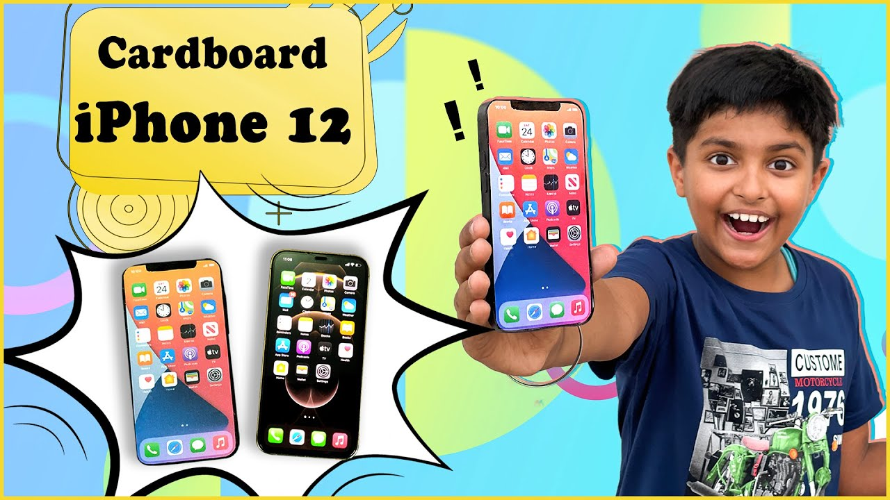 How to make iPhone 12 with Cardboard | Realistic Looking iPhone 12 | DIY Apple iPhone 12
