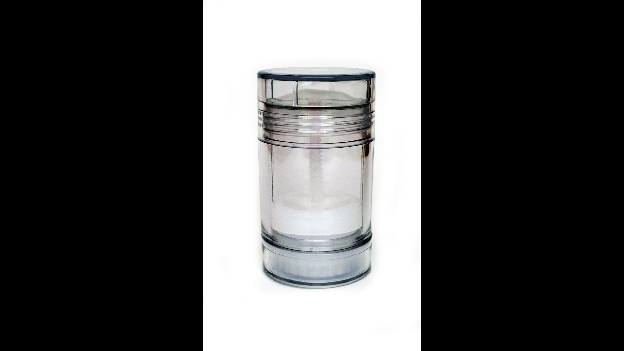 Clear Plastic Empty Deodorant Container Bottom-Fill :: HOW TO USE