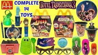 UNBOXING ALL 14 TOYS - Mcdonalds Hotel Transylvania 3 Happy Meal Summer Movie Toys