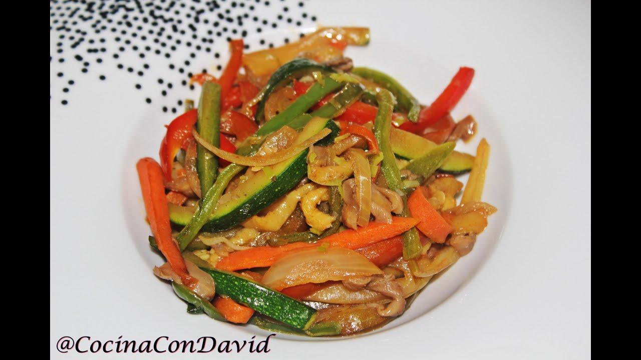 como hacer un wok de verduras