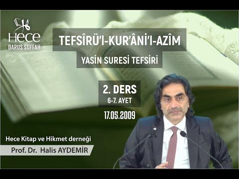 36 - Yasin Suresi Tefsiri 2  Prof. Dr. Halis Aydemir