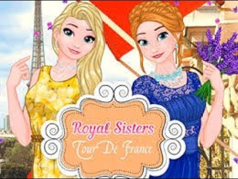 Royal Sisters Tour De France - Dress Up Game for Kids