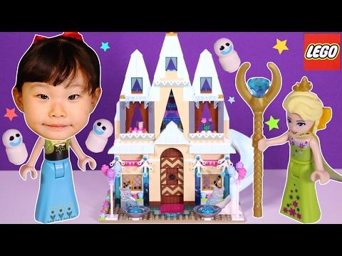 안나의 생일파티? 엘사의 얼음궁전에 놀러갔어요!! 레고 겨울왕국 엘사 안나 올라프 디즈니 프린세스 장난감 놀이 LimeTube & Toy 라임튜브