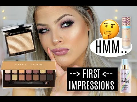 Full face of new products FIRST IMPRESSIONS...| Valerie pac