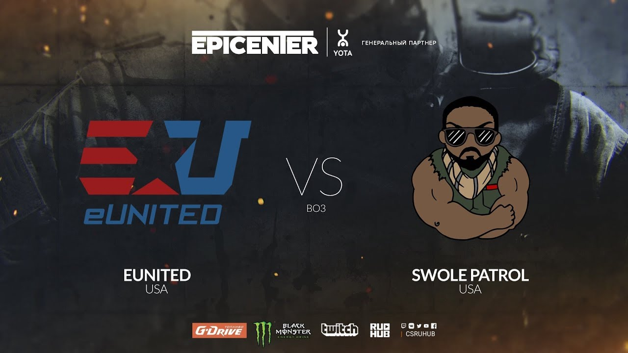 eUnited vs Swole Patrol - EPICENTER 2018 NA Quals - map2 - de_overpass  [Anishared]