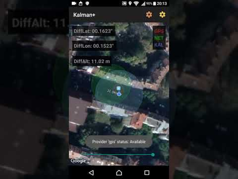 Kalman+ is Android Location Manager that delivers location predictions  based on a Kalman filter