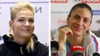 Darya Klishina Дарья Клишина 2017 2v Serbian open indoor Feb 18th feat  Ivana Spanovic HD