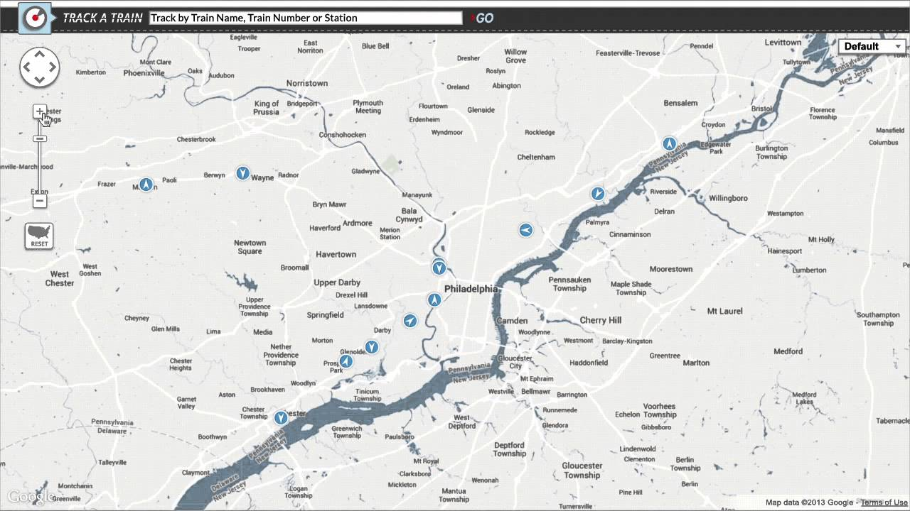 Amtrak maps trains from coast to coast with Google Maps