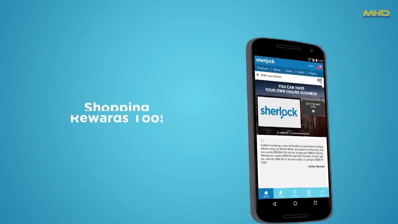 Sherlock mobile savings app free online mobile shopping for Shopping online mobili