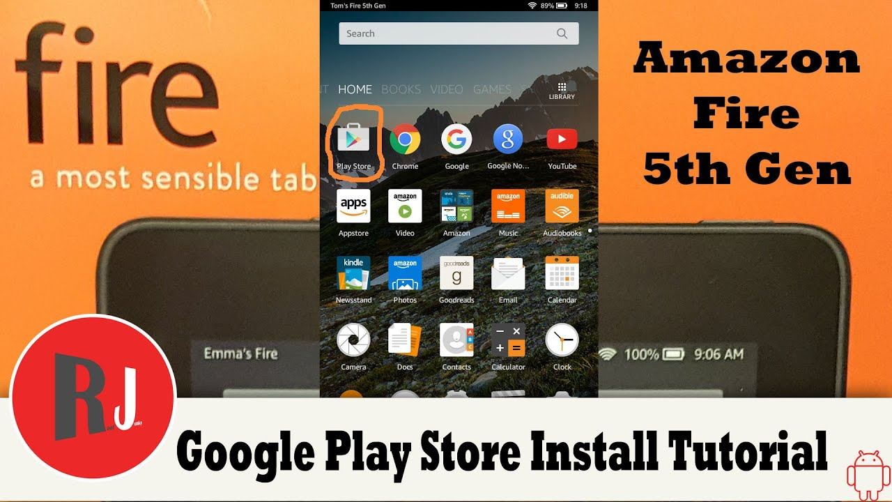 install google play store on fire tablets super easy method