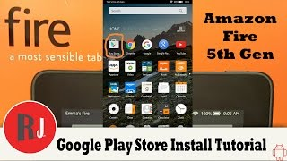 Amazon Fire 7in 5th Gen Google Play Store Install and remove lock screen ads Tutorial