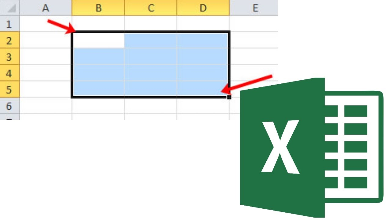 Как выделить ячейки в Excel? - YouTube