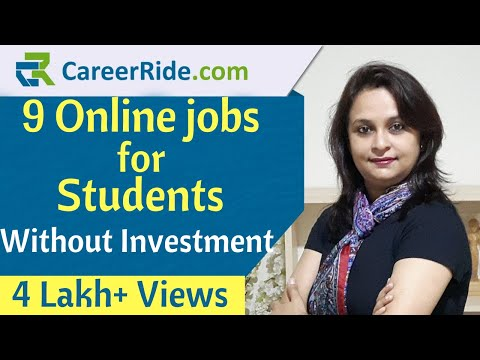 9 Online Jobs For Students To Earn Without Investment | Best Part Time Jobs For Students