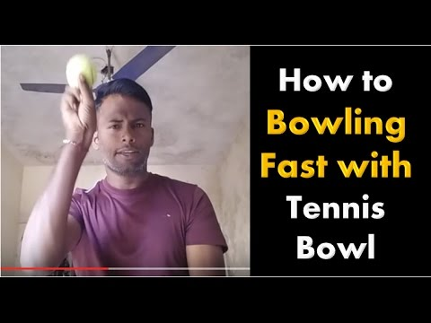 Learn how to bowl fast in cricket