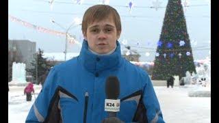 На площади Сахарова в Барнауле зажгли огни на главной елке Алтайского края. Прямое включение