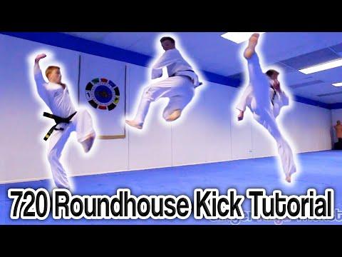 Taekwondo 720 Roundhouse Kick Tutorial (Cheat 900) | GNT How to thumbnail