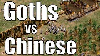 AoE2 - Incredible 1v1 | Goths vs Chinese | Straydog vs Hera