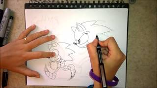 How to draw Classic and Modern Sonic