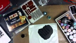 Ustream Recording -- Playing with PTP Elements Stamps and Polymer Clay Tiles -- Part 1