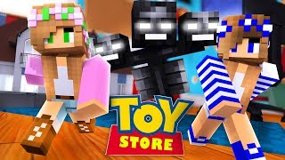 Minecraft TOY STORE - LITTLE KELLY IS ATTACKED BY A WITHER !!! w/ Sharky and Little Calry