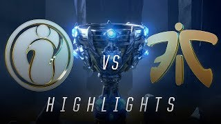 FNC vs. IG - Worlds Group Stage Day 8 Tiebreaker Match Highlights (2018)