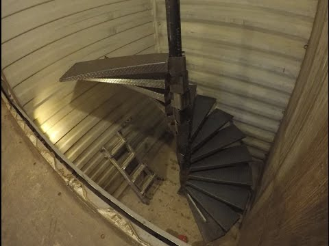 How To Build A Spiral Stair Case Youtube | 12 Foot Spiral Staircase | Lowes | Stair Treads | Black Spiral | Steel | Gray Interior