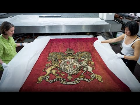 The Queen Anne Throne Canopy Installation