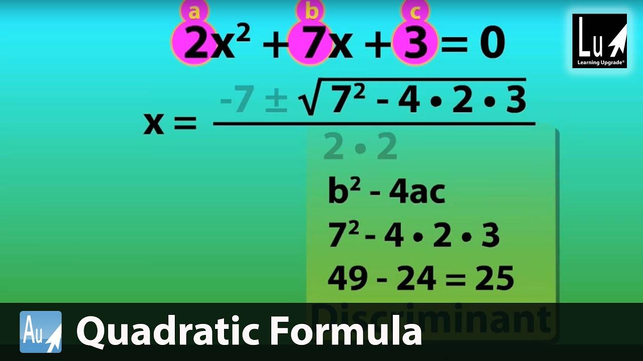 Quadratic Formula Song Algebra Upgrade