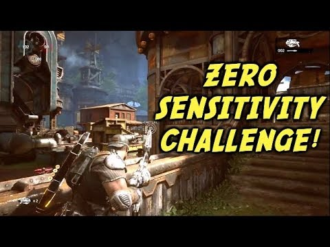 ZERO SENSITIVITY CHALENGE! (Gears of War 4) King of the Hill Multiplayer Gameplay With Randymash!
