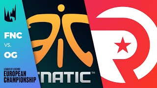 FNC vs OG, Game 1 - LEC 2020 Spring Playoffs Round 1 - Fnatic vs Origen G1