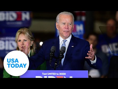 Joe Biden speaks after further primary votes revealed | USA TODAY