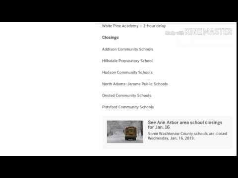 Jackson-area school closings, delays for January 16