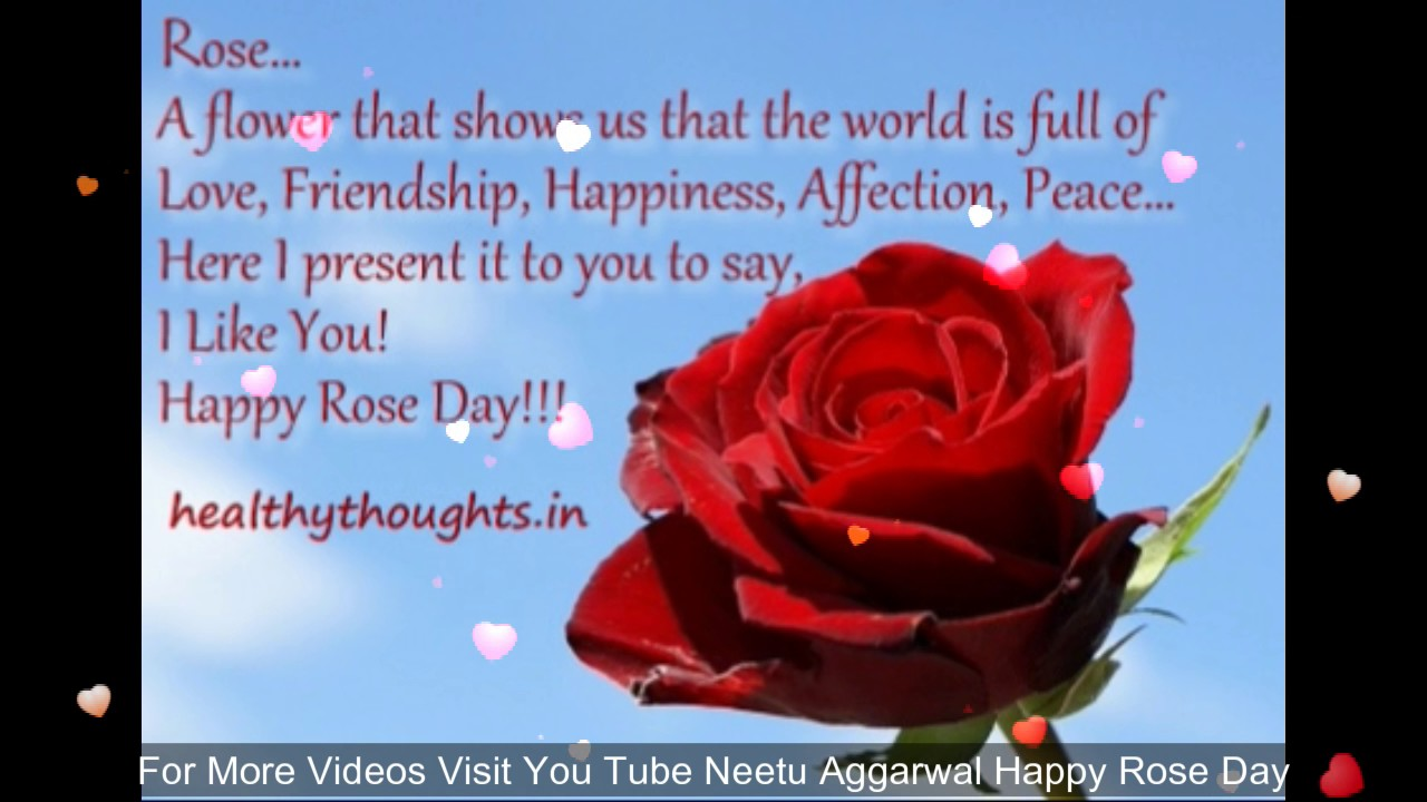Happy Rose Day My Friend Wishesgreetingsquotessmssayinge Card