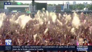 Croatie-Angleterre: les verre ont volé hier à Hyde Park lorsque Kieran Trippier a ouvert le score