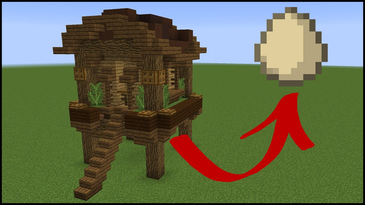 How To Make A Functional Minecraft Chicken Coop Youtube