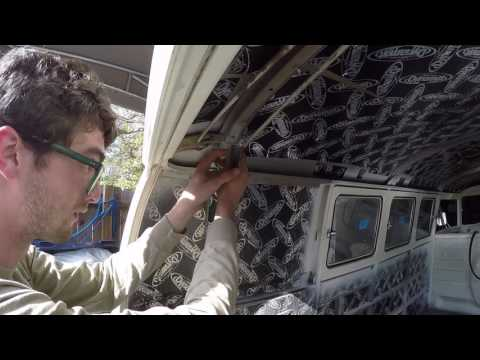 1967 VW split bus hatch hinge removal and install